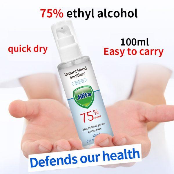 Bottle of 100ml hand sanitiser