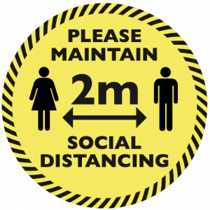 Social Distancing Circular Floor Sticker Design #3