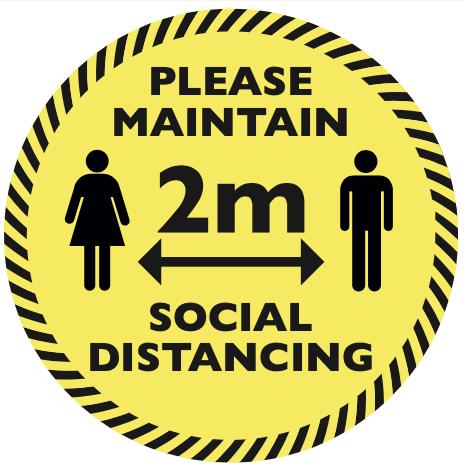 Social Distancing Circular Floor Sticker Design #3